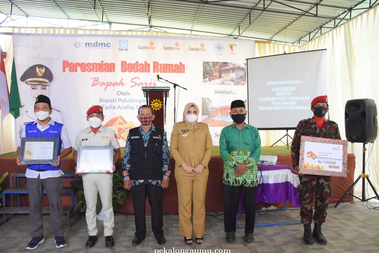 Bupati Pekalongan Resmikan Bedah Rumah Lazis Muhammadiyah