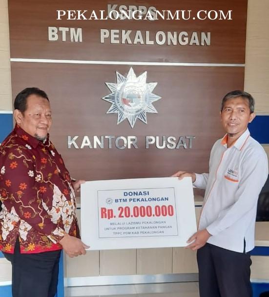 Support TPPC, BTM Pekalongan Donasi 20 J,..