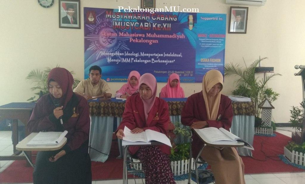 Hasil Sidang Komisi MUSYCAB XII, PC IMM Rekomendasikan Berdirinya Universitas Muhammadiyah di Pekalongan