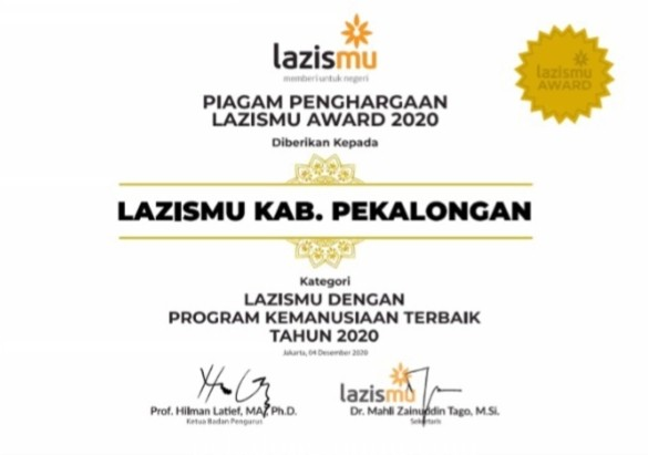 Lazismu Kabupaten Pekalongan Raih Pengha,..